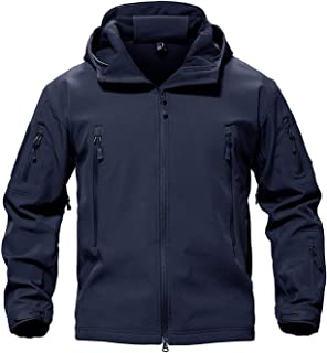 Army Camouflage Men Jacket Coat Military Tactical Jacket Waterproof Soft Shell Jackets Windbreaker Hunt Clothes,Navy,4XL