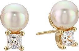 Majorica - TU Y YO CZ Gold Stud Earrings