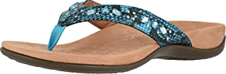 Vionic Women's Rest Lucia Flip-flop - Rhinestone Toe-post Sandals with Concealed Orthotic Arch Support