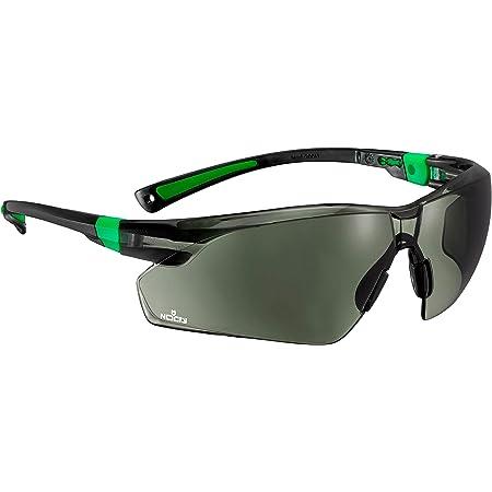 NoCry Sonnen-Schutzbrille mit grün getönten, kratzbeständigen Gläsern, Seitenschutz und Rutschfesten Bügeln, 400 UV-Schutz, verstellbar, schwarz grüner Rahmen