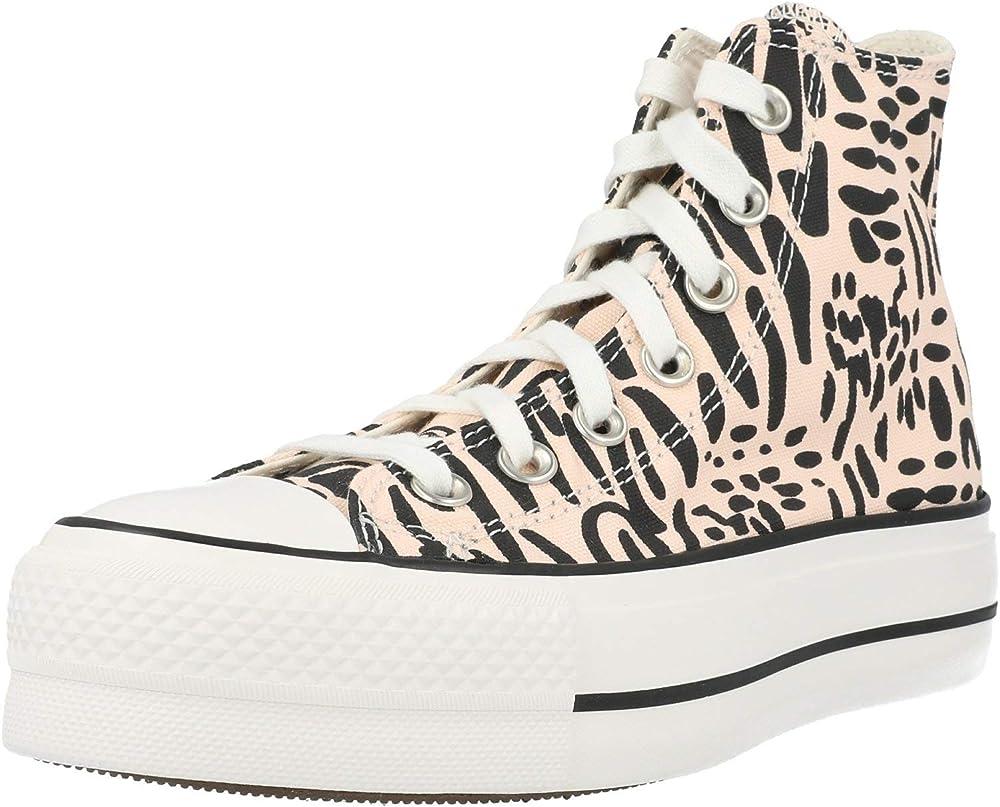 Converse chucks plateau sneakers casual da donna in tela 560845C