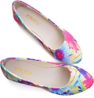 Stunner Women's Fashion Slip On Ballet Flat Shoes Classic Comfortable Floral Flats