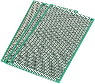 uxcell A16040500ux0190 3 Piece Double Sided Prototype Universal PCB Print Circuit Board 9 x 15 Cm Green, 5.91