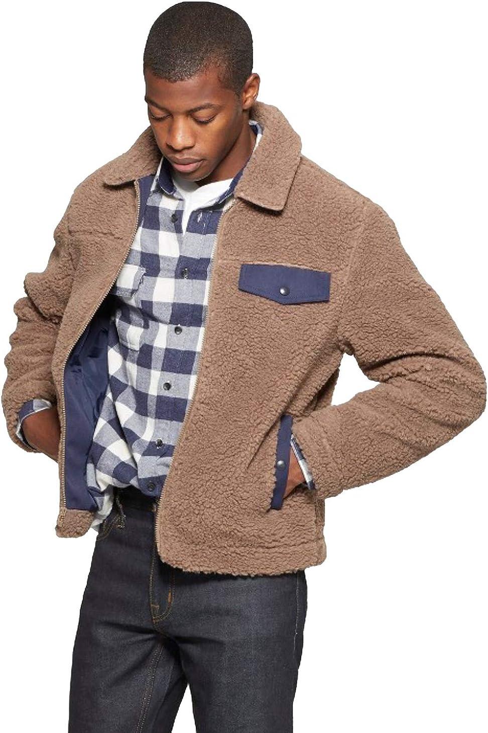 Goodfellow & Co Men's Faux Fur Jacket - Mocha -