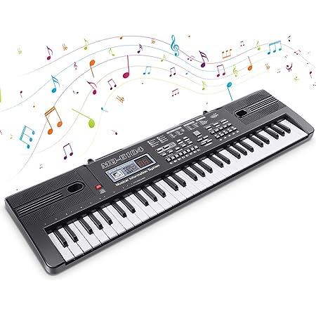 Digital Keyboard Piano Electrónico Piano 61 Teclas Teclado de Piano Portátil Teclado Electrónico Musica Teclado con Micrófono Juguete educativo Regalo ...