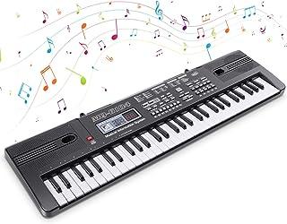 Digitale Piano,Tastiera Elettronica 61 Tasti,Pianoforte Tastiera Portatile, Tastiera Keyboard con Microfono per Principian...
