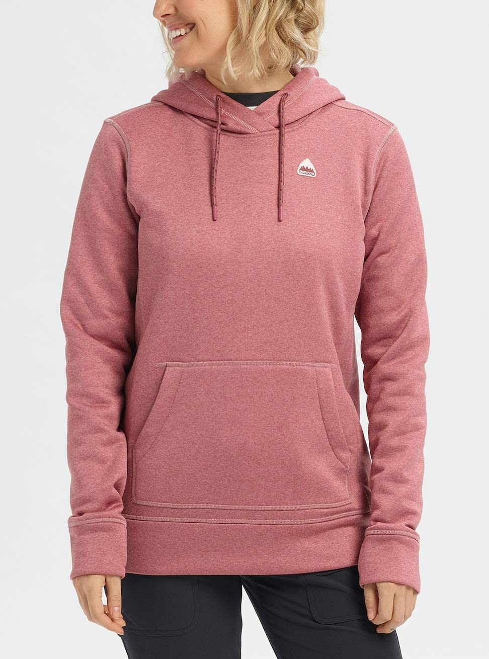 Burton Oak Sweatshirt à Capuche Technique Femme Rose Brown Heather