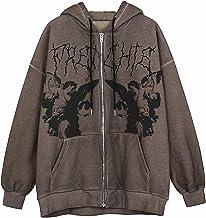 Yokbeer Vrouwen Y2k Zip Up Hooded Sweater Esthetische Grafische Hooded Sweatshirt Strass Skeleton Pullover Hoodie 90s Stre...