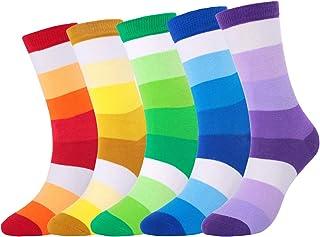 Calcetines Rayas Colores Hombre, Casuales Divertidos de Algodón