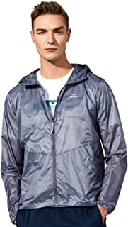 TFO Men's Lightweight Hooded Jackets Sun Protection+Quick Dry Windproof Packable Skin Coat
