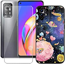 LMLQSZ TPU Cover for Oppo F19 Pro+ 5G + HD Tempered Glass, Silicone Shell Bumper Protective Back Case - 9 Hardness Anti-Sc...