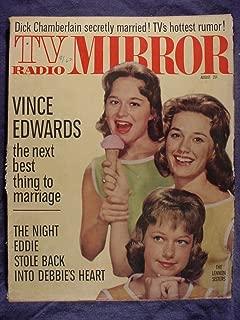 TV Radio Mirror August 1962 Original Issue - Lennon Sisters Cover Photo - Vince Edwards - Dick Chamberlain - Carol Burnett - Bobby Darin - Ed Sullivan - Gracie Allen & More!!
