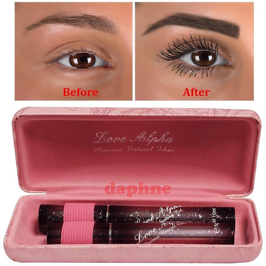 多用途感じる意気消沈した3D Fiber Lashes - Love Alpha Transplanting Gel & Natural Fiber Mascara Set with Pink Case - Brush on False Eyelashes [並行輸入品]