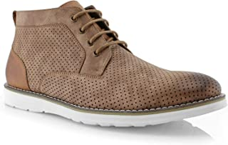 Walker MPX506055A Mens Memory Foam Mid-Top Sneaker Desert Perforated Two-Tone Casual Chukka Boots