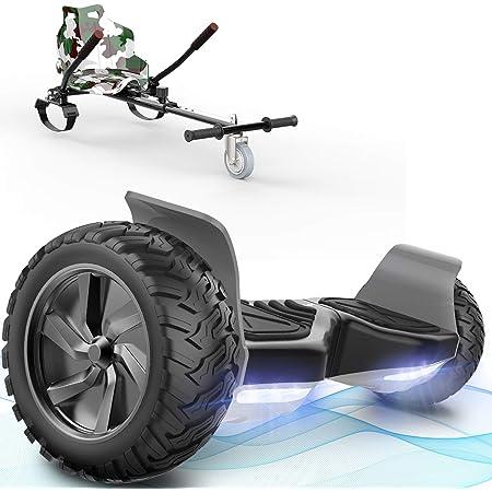 FUNDOT Hoverboards con Asiento, Hoverboards Todoterreno con Hoverkart, Patinete Eléctrico Autoequilibrado de 8.5 Pulgadas, Kart, Hoverboards ...