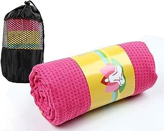 Serviette /à Main 30 x 91 cm Yoga Chaud VIVOTE Microfibre Ensemble de Serviettes de Yoga Impression,Serviette de Tapis de Yoga 66 x 183 cm Poches en Coin Antid/érapantes L/ég/ères Pilates