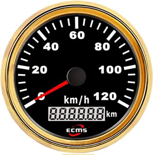 Durable Auto Motorcycle 85mm GPS Speedometer 0-120Km/h Odometer Mileage Adjustable Overspeed Alarm Gauge Lightweight