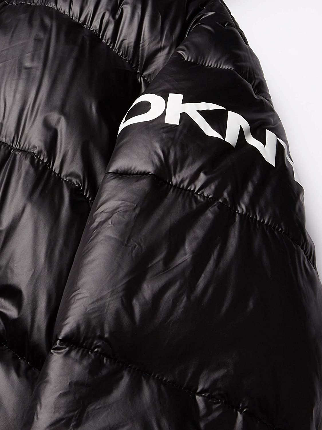 DKNY Men's Water Resistant Ultra Loft Hooded Logo Puffer Jacket (Standard and Big & Tall)