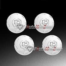 AutoModZone Custom Chrome Wheel Center Cap Hub Emblem Pop in Cover Set of 4 for 07-14 Cadillac Escalade Base / ESV / EXT (Chrome Emblem)