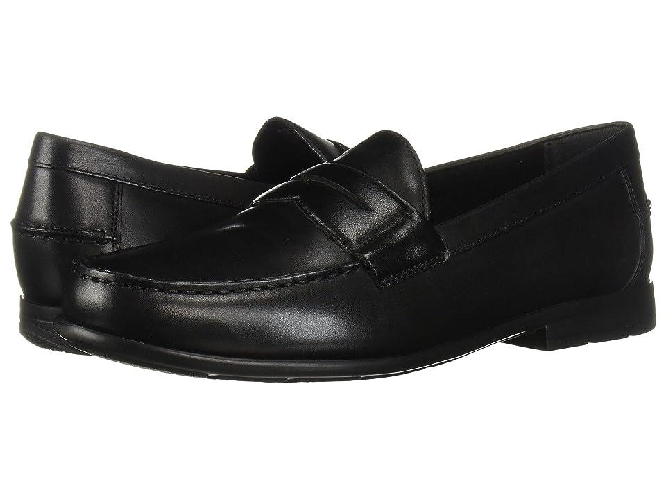 Nunn Bush Drexel Moc Toe Penny Loafer with KORE Walking Comfort Technology (Black) Men