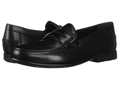 Nunn Bush Drexel Moc Toe Penny Loafer with KORE Walking Comfort Technology (Black) Men