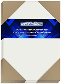 """100 Soft Off-White Translucent 17# Thin Sheets - 5"""" X 7"""" (5X7 Inches) Photo
