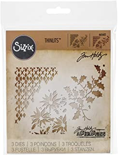 Sizzix Thinlits Dies 661602, Mixed Media Christmas by Tim Holtz, 3 Pack, One Size, Multi Color