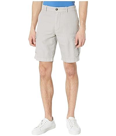 eleventy Linen/Cotton Cargo Shorts (Grey) Men