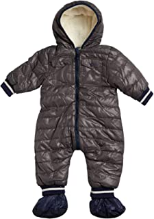 Baby Boys Snowsuit Winter Pram - Fully Sherpa Fur Lined (Newborn and Infant)