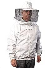 Forest Beekeeping Jacket with Round Veil Hood, Professional Premium Beekeeper Jackets YKK Brass Zippers (XL)