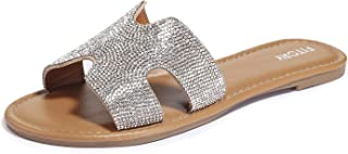 Best jeweled slide sandals Reviews