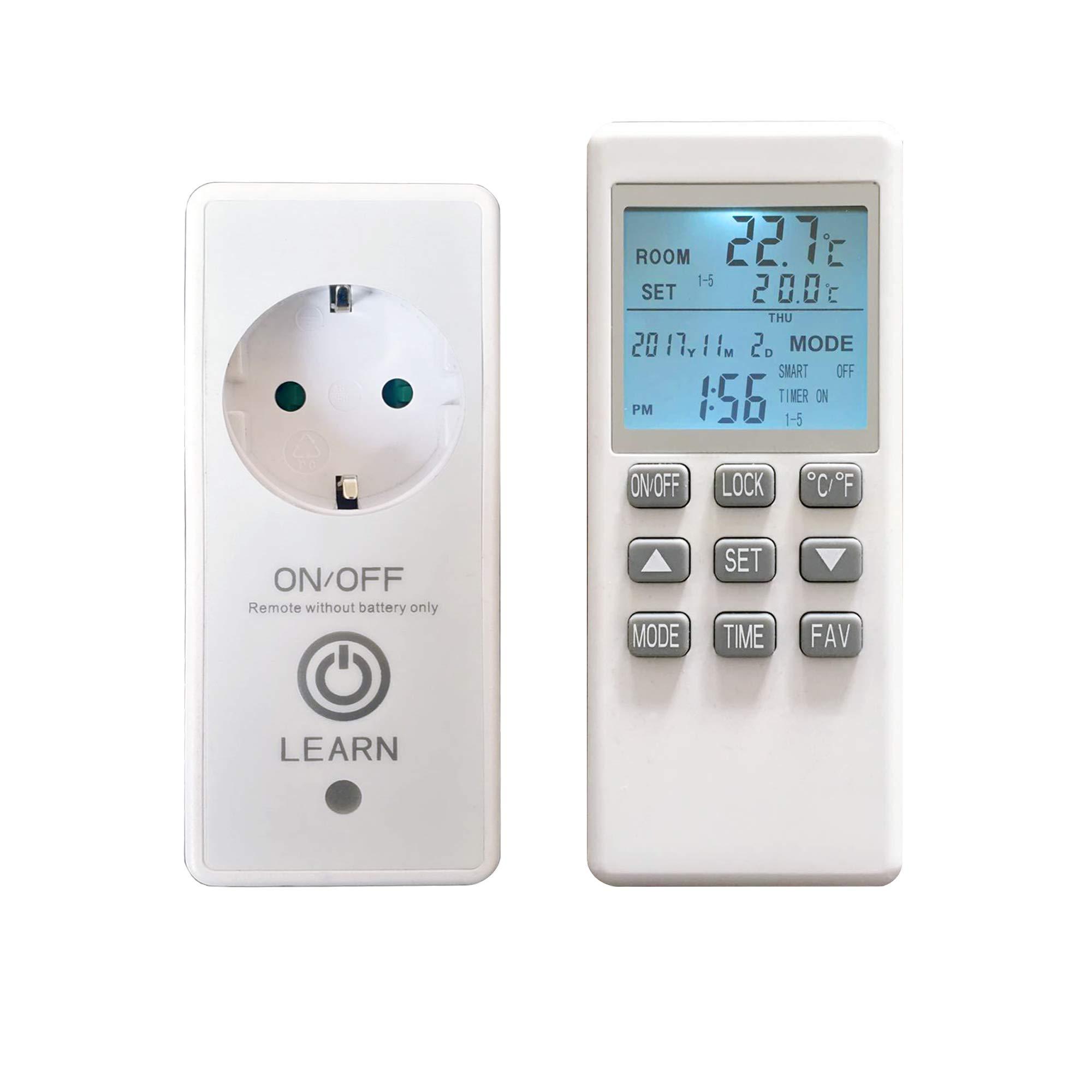 Casetta da giardino con riscaldamento a infrarossi ASM G-TH45-BE con termostato WiFi 450 Watt
