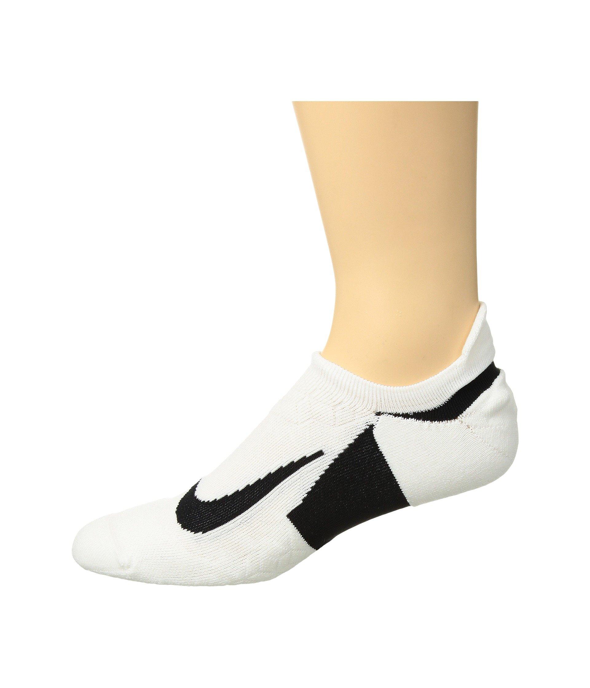 Cushion Elite Running Nike show White Tab No Socks black black 5gvvqwB