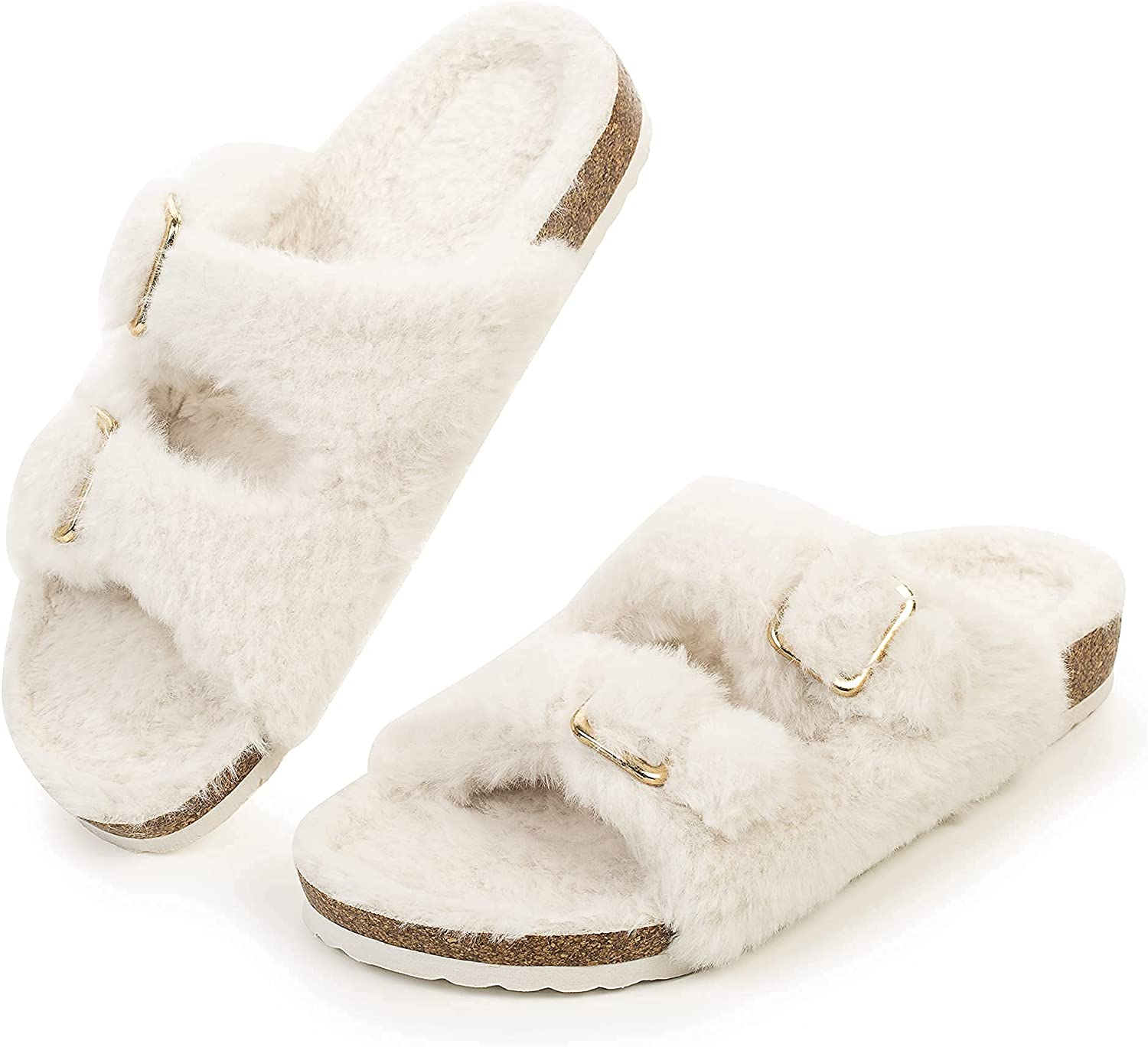 FITORY Womens Open Special Campaign Toe Slipper with Cozy Lining Faux Rabbit OFFicial site Fur