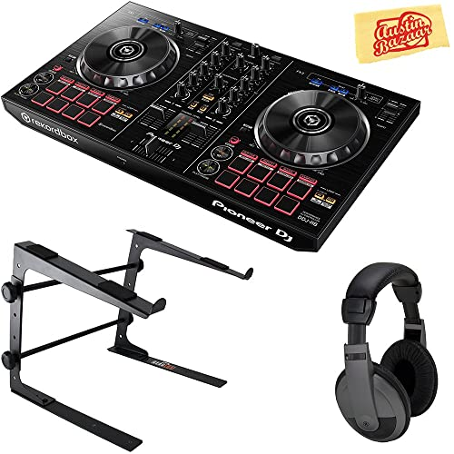 Pioneer DDJ-RB Portable 2-Channel Controller for Rekordbox DJ Bundle with Stand,