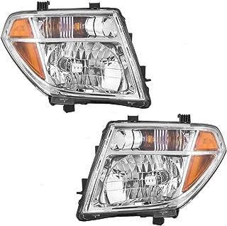 Pair Halogen Combination Headlights Headlamps Replacement fits 05-07 Nissan Pathfinder & 05-08 Frontier 26060EA525 26010EA525 AutoAndArt