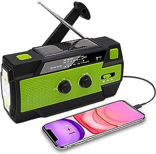 $28 » Sponsored Ad - Emergency Weather Radio,4000mAh Hand Crank Solar Radio,AM/FM/NOAA Portable Radio with LED Flashlight,Readin...