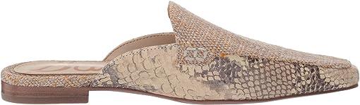 Natural/Wheat Multi Shimmer Linen/Exotic Snake Print Leather