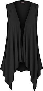 MBJ Women's Lightweight Sleeveless Solid/Tie-Dye Open...