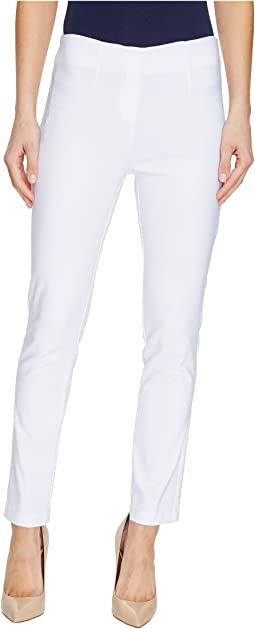 "Stretch Bengaline 28"" Flat Front Ankle Pants"