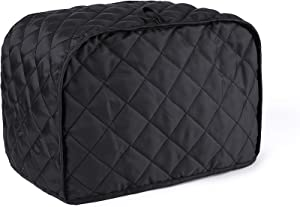 MOSKOS 2-Slice Toaster Cover, Kitchen Small Appliance Cover, Universal Size Microwave Oven Dustproof Cover Women Gift(Black)