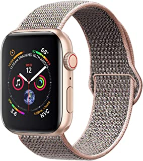 amBand Sport Loop Band Compatible with Apple Watch 38mm 40mm 42mm 44mm, Lightweight Breathable Nylon Replacement Band Compatible with iWatch Series 1/2/3/4, Sport, Edition
