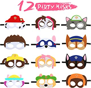12 Pcs Birthday Cosplay Character Party Supplies Perfect for Kids Boys Girls Masks Party Favors,Paw Dog Patrol Birthday Cosplay Character Party Supplies Perfect for Kids Boys Girls