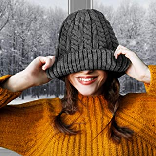 MB55 Thermalsport Unisex Warm Winter Beanie for Men + Women- Cable Knit - Soft Winter Skull Cap