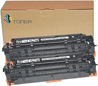 JC Toner Compatible for 304A CC530A Toner Cartridge for use with Color LaserJet CP2025 CP2025dn CM2320fxi mfp; imageCLASS MF726Cdw LBP766 ( Black, 2-Pack)