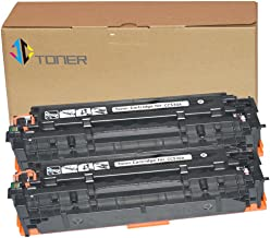 JC Toner Compatible for 304A CC530A Toner Cartridge for use with Color LaserJet CP2025 CP2025dn CM2320fxi mfp; imageCLASS MF726Cdw LBP766 ( Black, 2-Pack)
