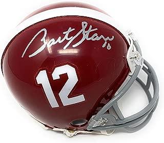 Bart Starr Alabama Crimson Tide Signed Autograph Mini Helmet Tristar Authentic Certified