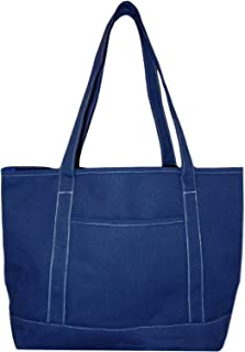 Premium Large 24 oz Cotton Canvas Carry All Tote Shopper Bag