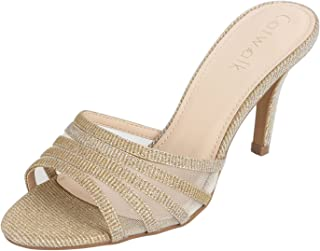 Catwalk Women's Shimmer Slip On Stilettos