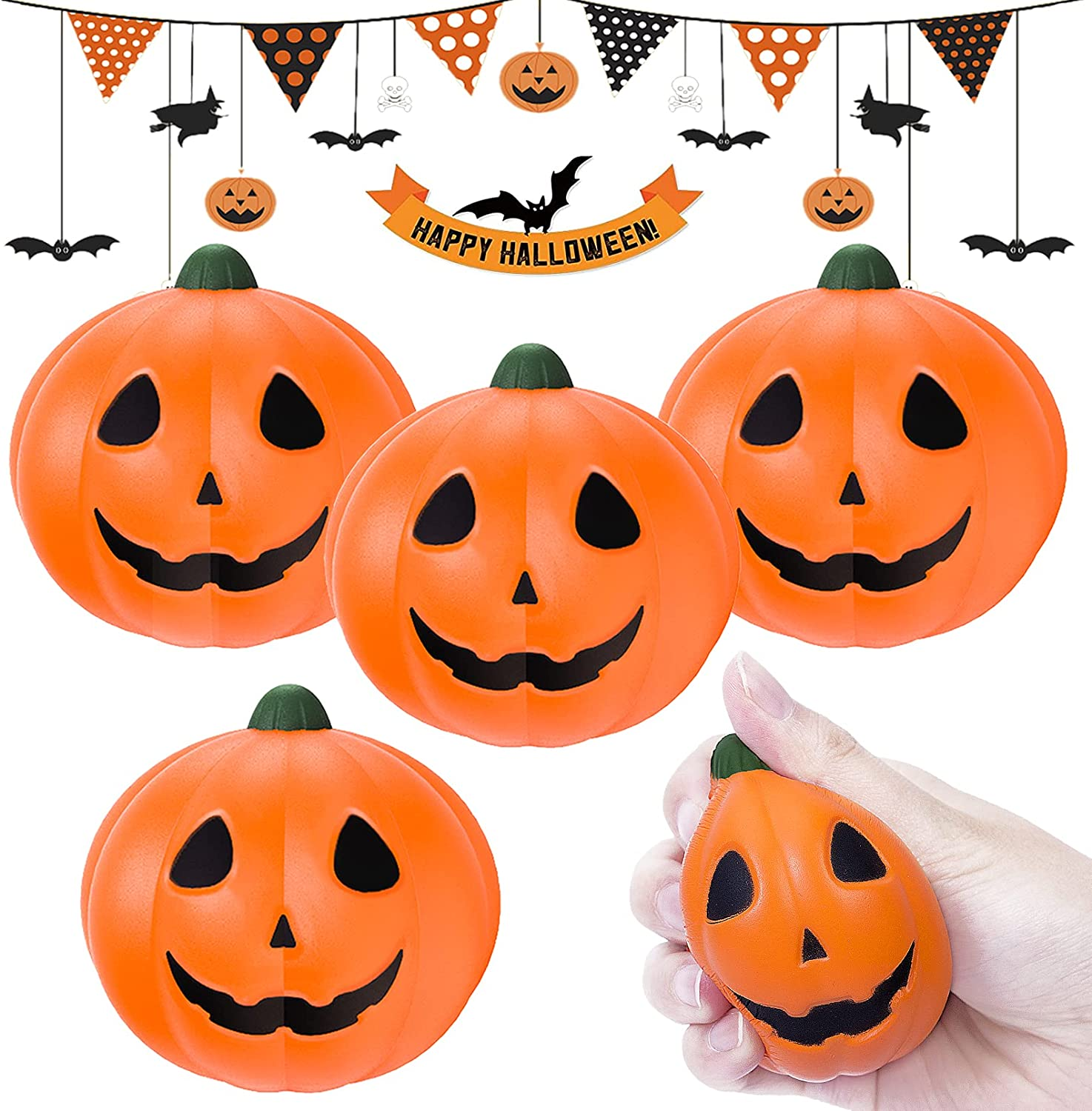 Halloween Squishy Toys Oakland Mall 4 Pcs Str Rising Squishies Pumpkins Special sale item Slow
